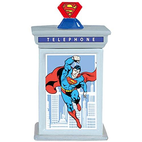 - Westland Giftware Ceramic Cookie Jar, 9.75-Inch, DC Comics Superman Phone Booth