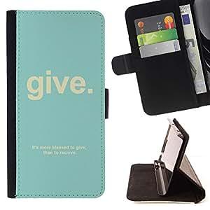 For Apple Apple iPhone 4 / iPhone 4S Case , Cita cristiana Dios Salmo trullo texto- la tarjeta de Crédito Slots PU Funda de cuero Monedero caso cubierta de piel