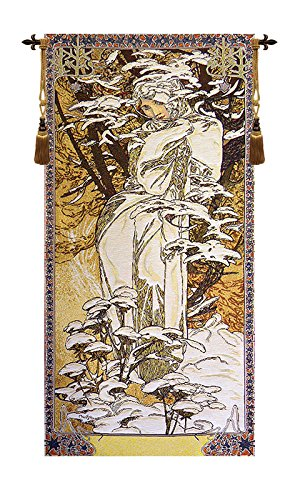 Mucha Winter European Wallhanging by Charlotte Home Furnishings Inc.