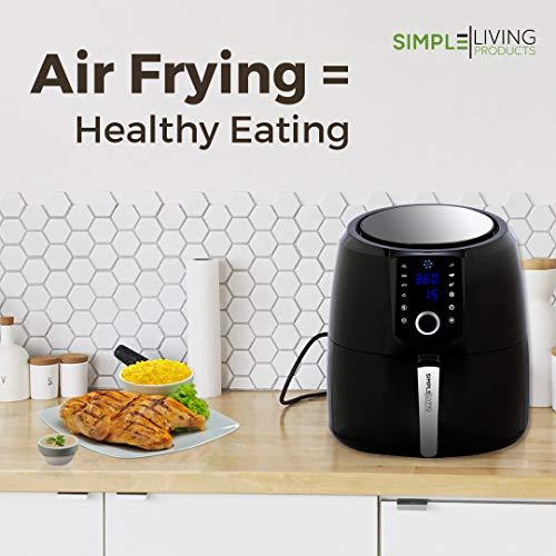 Simple Living XL 58qt Hot Digital Air Fryer 3 Air Fryer Accessories Recipe Book 8 Cooking Presets