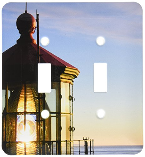 Lighthouse Light Switch Covers - 3dRose LLC lsp_21885_2 Haceta Lighthouse, Double Toggle Switch