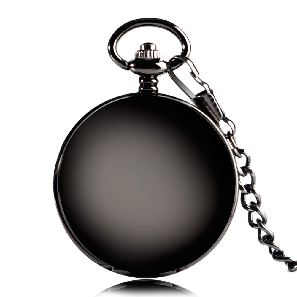 Smooth Face Double Hunter Design Hand Winding Mechanical Pocket Watch