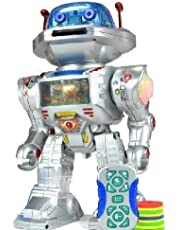 NMIT IQ Doctor The Radio Controlled Robot - Walks, Glides, Turns, Dances, Launches Frisbees with Sounds And Lights