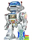 ZGMFX IQ Doctor The Radio Controlled Robot - Walks , Glides, Turns, Dances, Launches Frisbees with Sounds And Lights