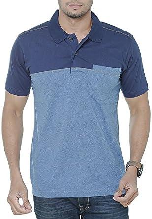 50d92dde7fc WEXFORD Men s Half Sleeves Striped Polo Tshirt Neck Cotton Tshirt Casual  T-Shirt Branded Tshirt  Amazon.in  Clothing   Accessories