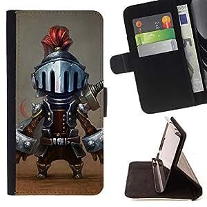 Ihec-Tech / Negro Flip PU Cuero Cover Case para Samsung Galaxy S5 Mini, SM-G800 - Jeu de caractère drôle de bande dessinée