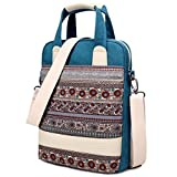 Dachee New Blue Bohemian Laptop Shoulder Bag 13.3 Inch Laptop Briefcase for macbook Air 13 /Macbook Pro 13 /Dell/hp/lenovo/sony/toshiba/ausa/acer/samsung Laptop Messenger Bag
