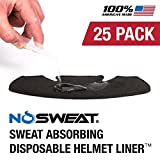 NoSweat Hockey Helmet Liner - Moisture Wicking Sweatband Absorbs Dripping Sweat   Helps Prevent Acne, Reduces Fogging/Anti-Fog - (Hockey Players/Officials and Referee)