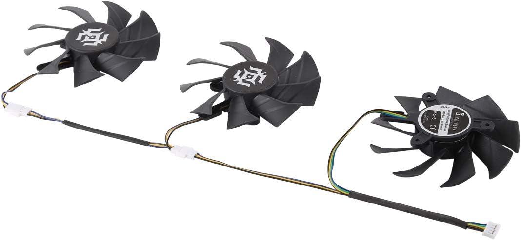 3 PCS DC 12V 4 Pin Distaff Desktop Computer Radiator Chilling Fan CPU Cooling Fan 8.5mm WQFStore Diameter