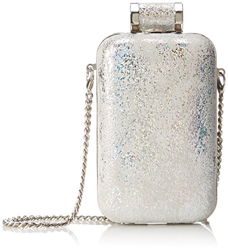 Halston Heritage Cellphone Minaudiere Evening Bag, Silver, One Size by Halston Heritage