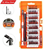 Screwdriver Set, S2 Steel 60 in 1 with 56 Screwdriver Bits, Precision Magnetic Driver Kit, Professional Repair Tool Kit for iPhone, Computer, PC, Glasses, Laptop, Camera, Other Electronics Devices