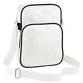 Bagbase Original Airline Reporter Bag (4 Litres) (UK Size: One Size) (Off White/Black)