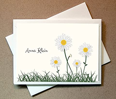 Personalized Gifts - Daisies Cards (40 Cards and Envelopes) - Classic Crest Business Cards