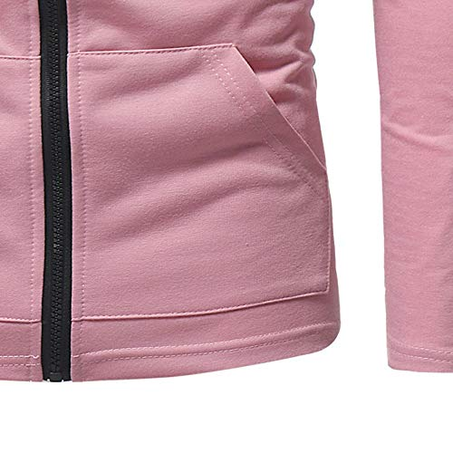 HHei_K Mens Autumn Winter Casual Plain Slim Fit Long Sleeve Full Zipper Coat Pocket Hoodies Sweatshirt Blouse by HHei_K (Image #6)