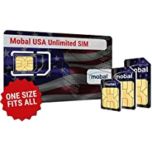 USA Unlimited SIM Card by Mobal.  Get Unlimited Data, Calls and Texts in the USA.