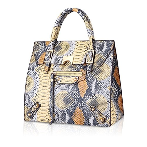 Walcy New Style PU Leather Europe Women's Handbag,Square Cross-Section Tote HB880036C4