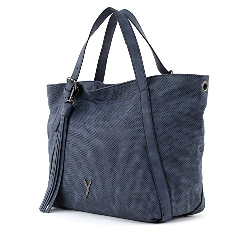 SURI FREY Romy Shoulder Bag with Zip Blue