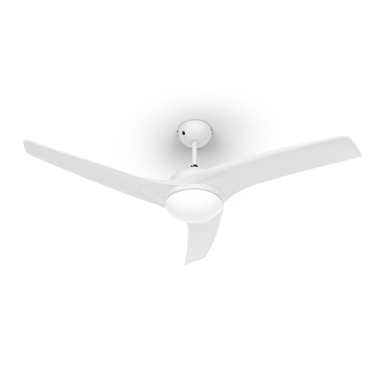 Klarstein Figo - Ventilateur de Plafond 3 pales avec éclairage et télécommande Incluse (3 Vitesses, 2 Sens de Rotation) - Blanc product image
