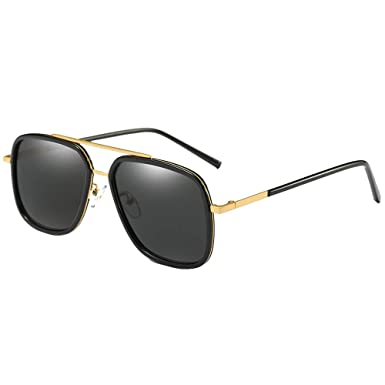 23b568a32d Image Unavailable. Image not available for. Colour  Square Sunglasses Men  Alloy polarized Rectangular ...