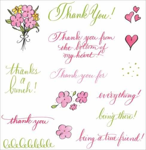 - See D's Clear Stamp Rubber Images-Thank You