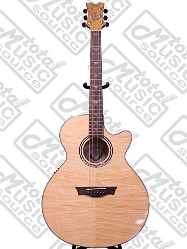 Dean Performer Ultra Flame Maple Acoustic Electric Guitar, Natural, PE UFM (Dean Performer Series)