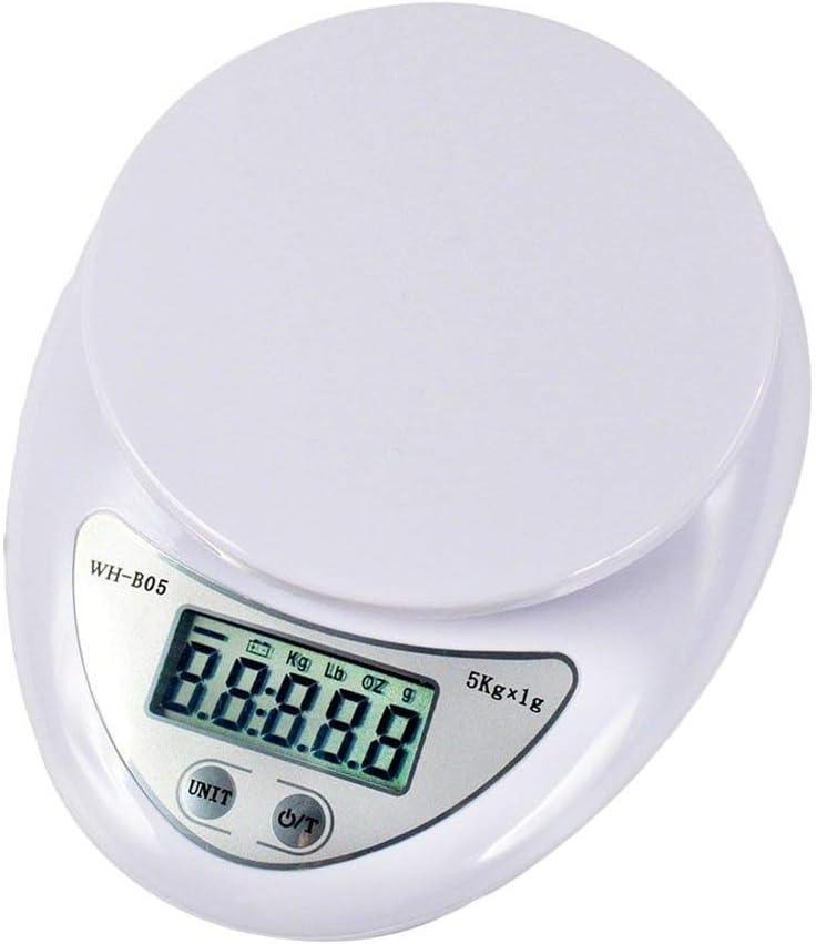 1g Szaerfa Cocina LCD Postales Escalas Digitales Dieta Alimenticia Peso Electr/ónico 5kg Amarillo