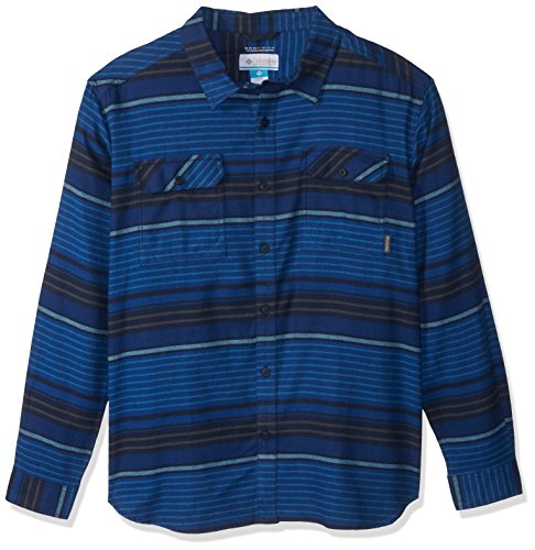 Columbia Men's Flare Gun Flannel III Long Sleeve Shirt, Collegiate Navy Stripes ()