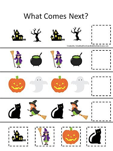 Amazon.com: 4 Pack laminated preschool Halloween themed ...