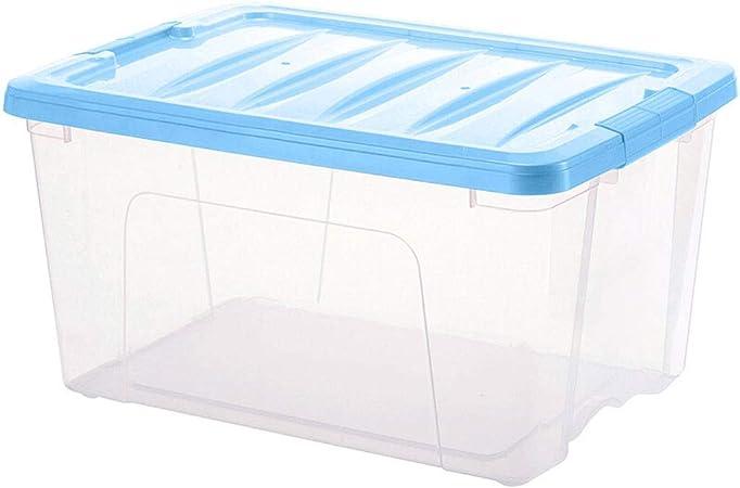 HUIQI Caja almacenaje Caja de Almacenamiento de plástico Grande Ropa del hogar Juguete Caja de Almacenamiento Transparente (42L, Azul) Cajas almacenaje plastico (Size : 70L): Amazon.es: Hogar