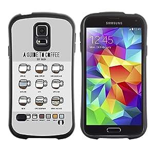"""Hypernova Slim Fit Dual Barniz Protector Caso Case Funda Para Samsung Galaxy S5 [Gráfico Coffee Guías Guía Barista Copa""""]"""