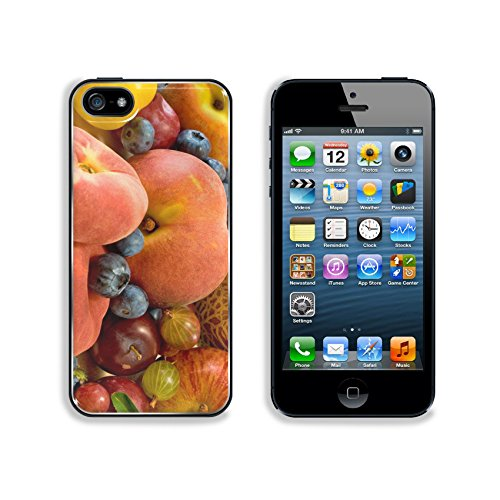 Liili Premium Apple iPhone 5 iphone 5S Aluminum Backplate Bumper Snap Case IMAGE ID 33921390 image of different fruits on the table closeup