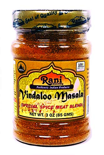 (Rani Vindaloo Curry Masala Natural Indian Spice Blend 3oz (85g) ~ Salt Free | Vegan | Gluten Free Ingredients | NON-GMO | No colors)