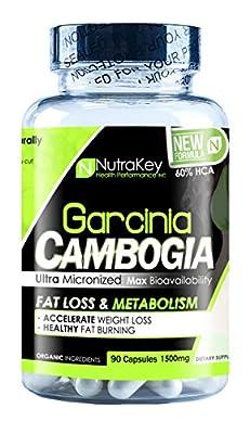 NutraKey Garcinia Cambogia 60 Percent Capsules, 90-Count