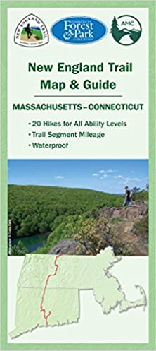 Appalachian Trail New England Map.New England Trail Map Guide Appalachian Mountain Club Books
