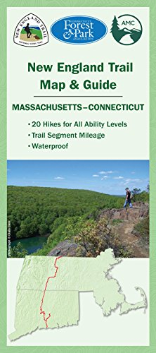 New England Trail Map & Guide (Mass anmd Conn) (Worcester Road Map)