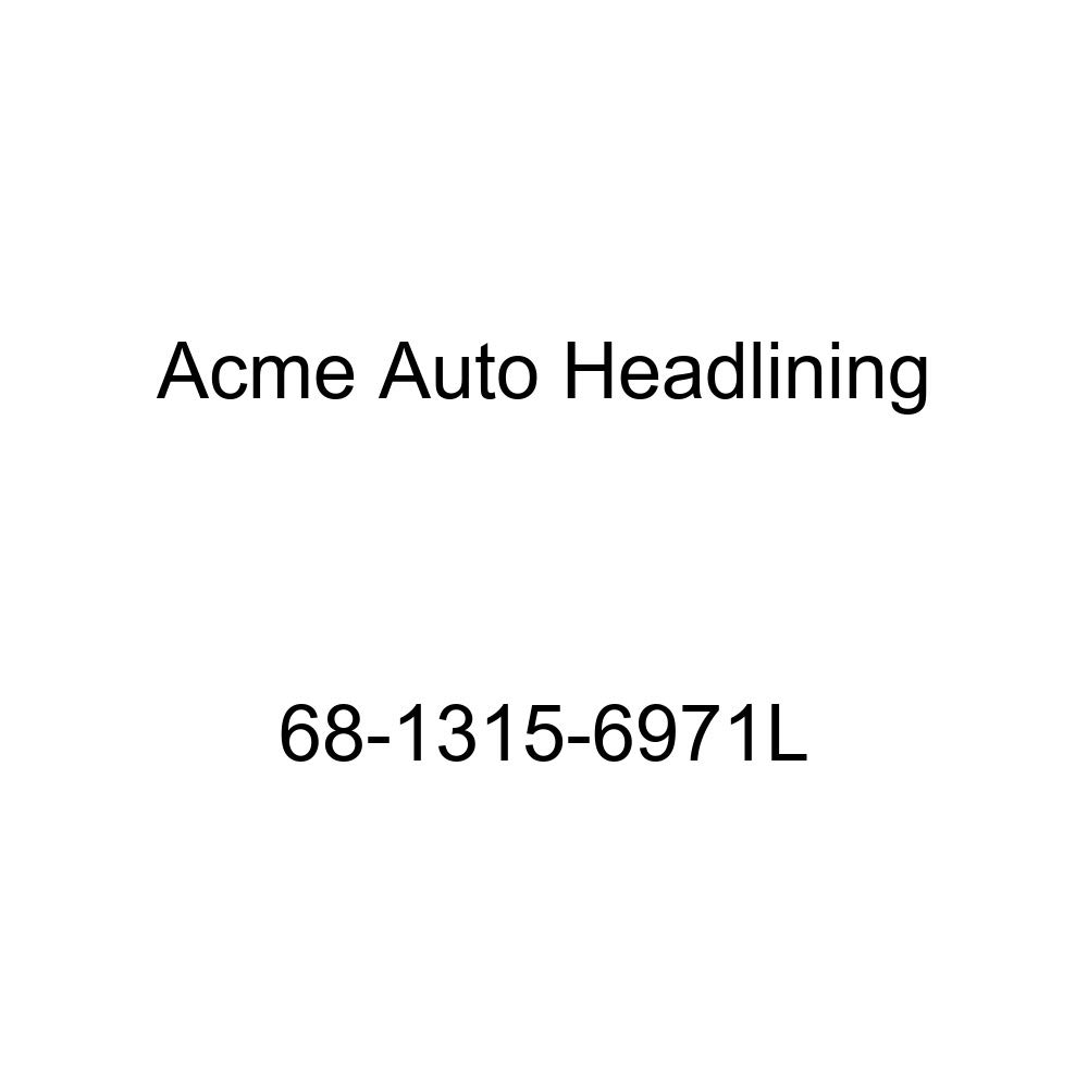 Cadillac Calais /& DeVille 4 Dr Hardtop 6 Bow Acme Auto Headlining 68-1315-6971L White Replacement Headliner