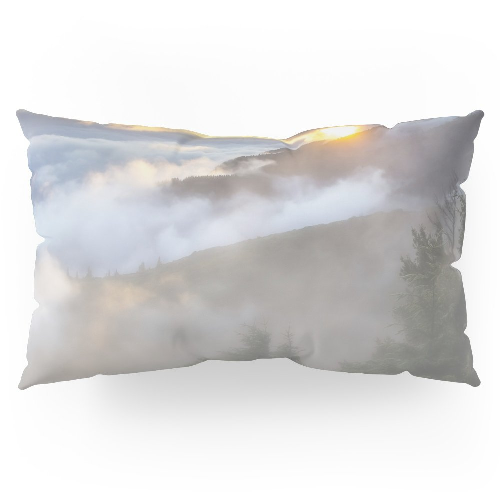 Society6 Sunrise And Dust - Mountains - Forest - Wood - Trees - Fog Pillow Sham King (20'' x 36'') Set of 2