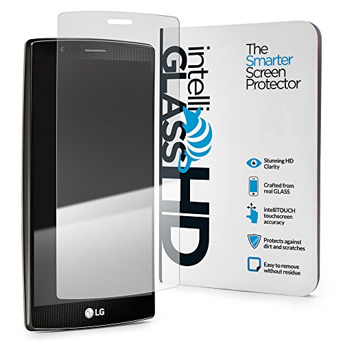 LG G4 intelliGLASS HD - The Smarter Glass Screen Protector by intelliARMOR To Guard Against Scratches and Drops. HD Clear With Max Touchscreen - Review Buy Glasses Com