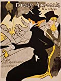 """This 17"""" x 22"""" canvas art print of Divan Japonais Poster by Henri Toulouse-Lautrecis created on the finest quality artist-grade canvas, utilizing premier fade-resistant archival inks that ensure vibrant lasting colors for years to come. Your canvas ..."""