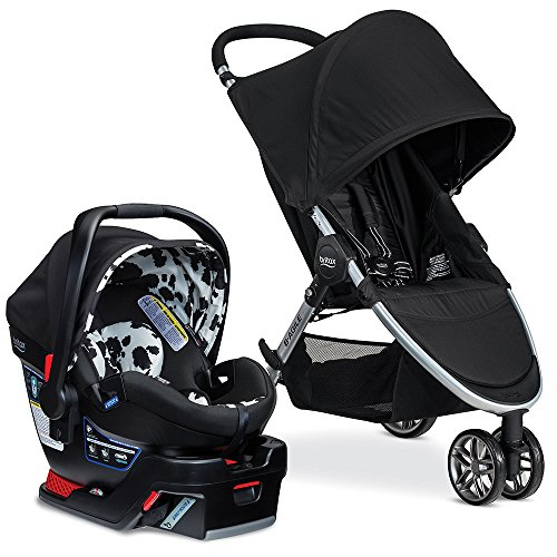 Britax 2017 B-Agile & B-Safe 35 Elite Travel System, Cowmooflage (Travel System Car Seat Adapter)