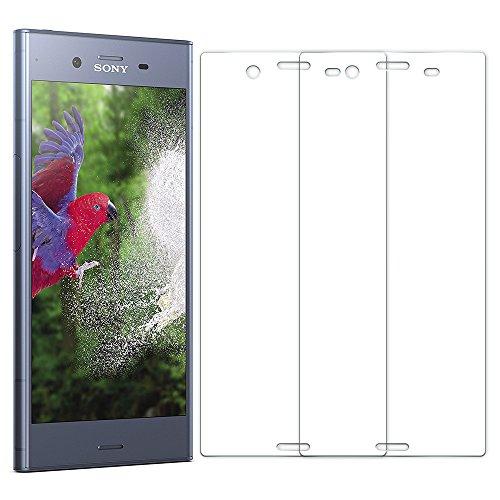 [2 Unidades] Protector de Pantalla Sony Xperia XZ1, Senisttech 9H Dureza Cristal Vidrio Templado Para Sony Xperia XZ1, 0.33mm Ultra Transparencia HD, 3D Touch Compatibles, Instalación Fácil