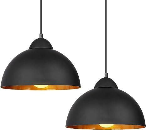 Deckey Pendant Light With 47inch Cord 2 Pack φ30cm For E26 Bulbs Industrial Hanging Pendant Lights Barn Pendant Light Linear Dome Pendant Lighting For Dinning Room Bedroom Barn Café Black Amazon Com