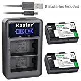 Kastar Battery x2 + Dual LCD Charger for Canon LP-E6, LP-E6N, EOS 5DS R, 5D Mark II, 5D Mark III, Mark IV, 6D, 6D Mark II, 7D, 7DSV, 7D Mark II, 60D, 60Da, 70D, 80D, XC10, XC15, Marshall HDMI Monitor