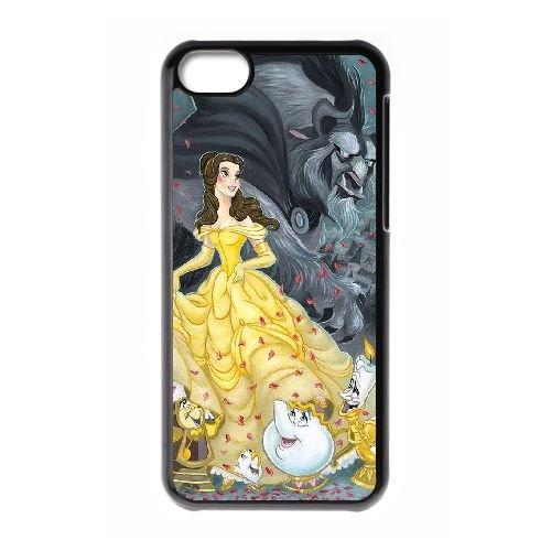 Disney Beauty And The cas de téléphone cellulaire 5c Bête FB01TZ7 coque iPhone coque N0XL8Q4IR