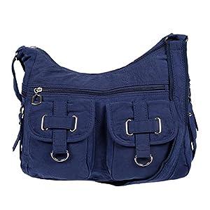 Christian Wippermann , Sac pour femme à porter à l'épaule Bleu bleu 32 x 26 x 13 cm