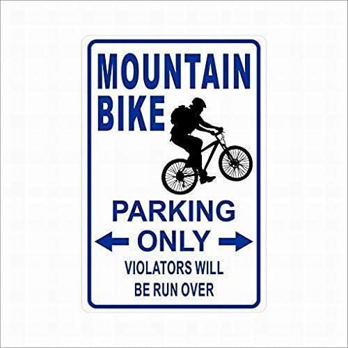 "Metal Sign Bmx Parking Only 8"" x 12"" Aluminum S255"