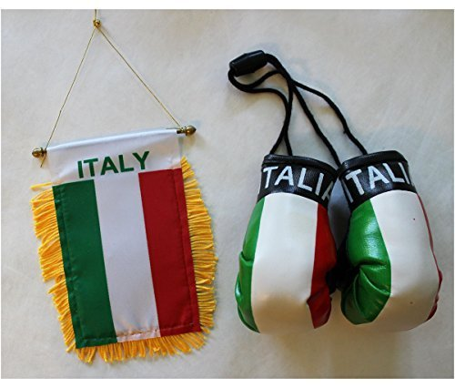Italy - Boxing Glove and Window Hanger Combo by Flagline by Flagline