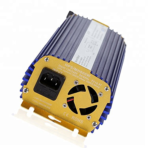 TOPHORT Manual HPS Mh Digital Dimmable 600w Electronic Ballast Compatible with Fan
