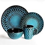 American Atelier Sicily 16-Piece Dinnerware Set, Blue