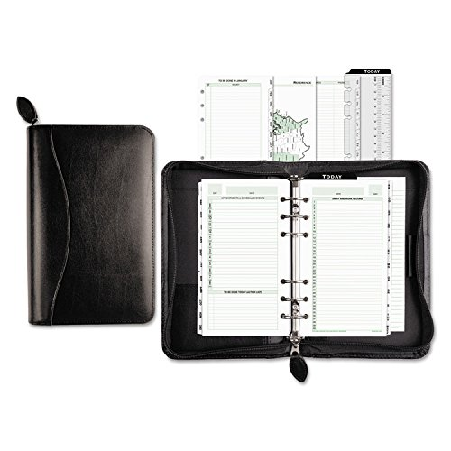 Set Day Starter Timer (Day-Timer Starter Set Organizer, Bonded Leather, Potable Size, Black (D41746))